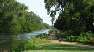 The Hennepin Canal State Trail is a popular running, biking, and fishing spot around here.