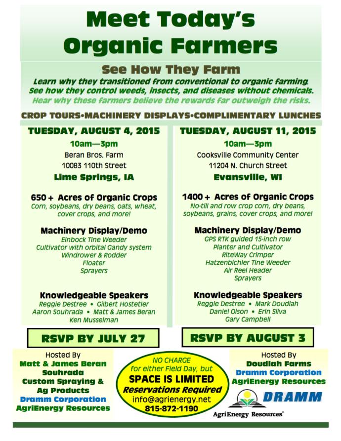 Organic Field Days August 2015