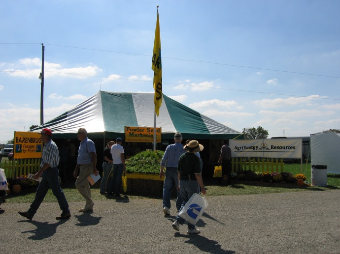 We'll have a booth in the Fowler Seeds Tent again this year, along with Barenbrug and Master's Choice.